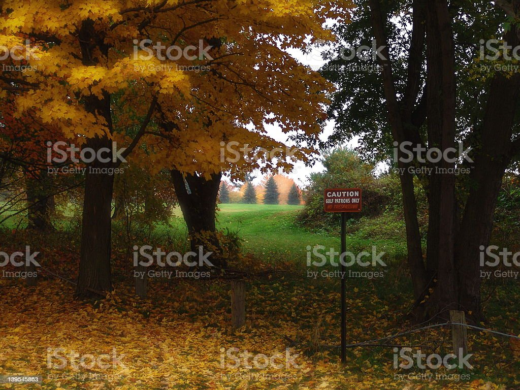 Golf Patrons Only sign royalty-free stock photo