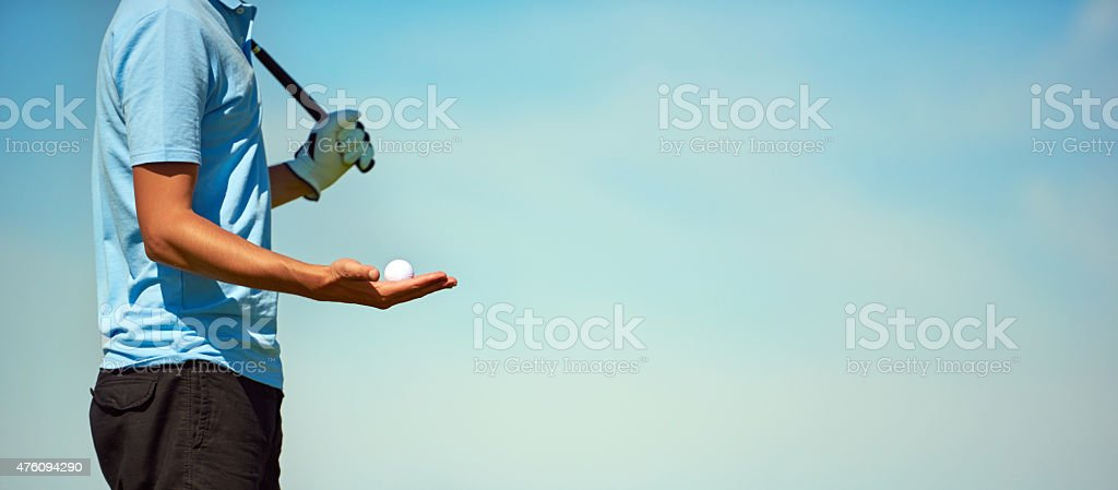 golf player with golf club and ball stock photo