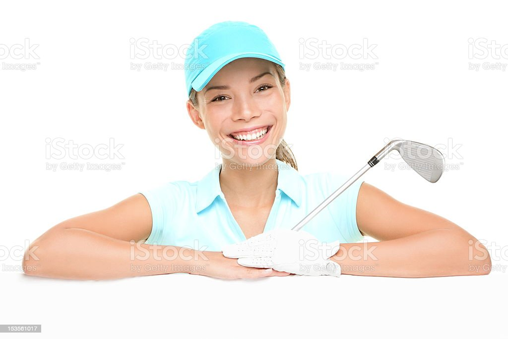 Golf player - woman showing sign royalty-free stock photo