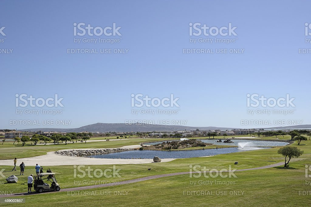 Golf Players at Langebaan Country Estate stock photo