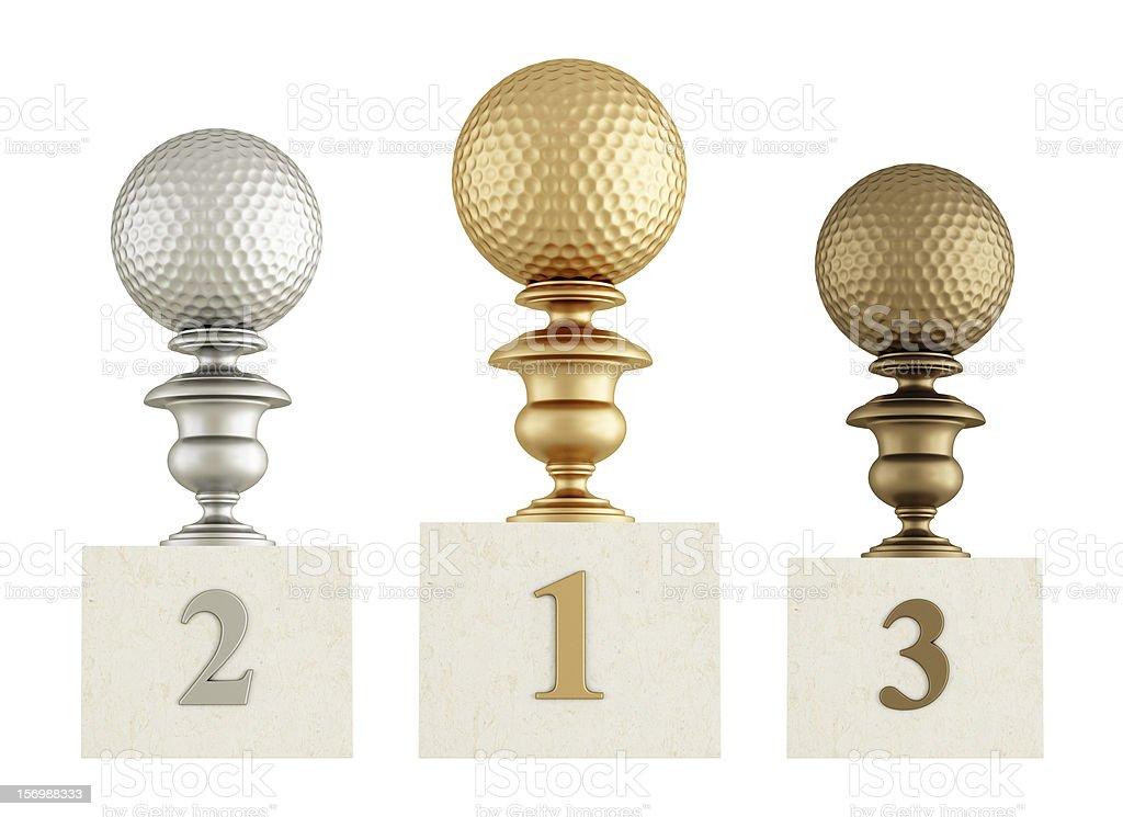 golf podium royalty-free stock photo