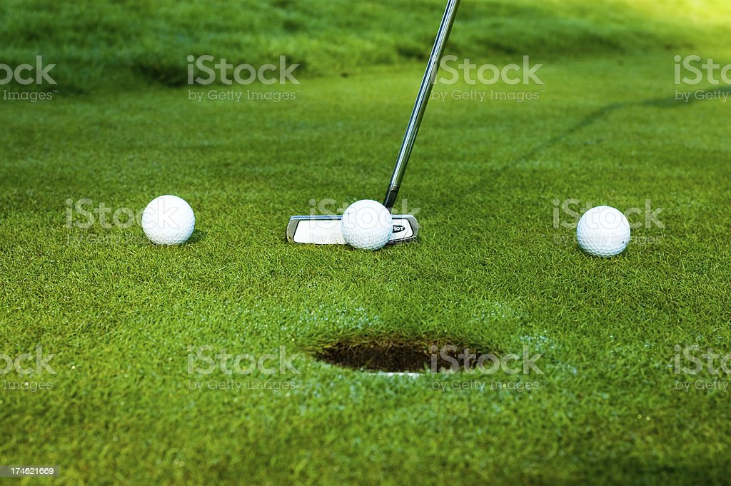 Golf practice royalty-free stock photo