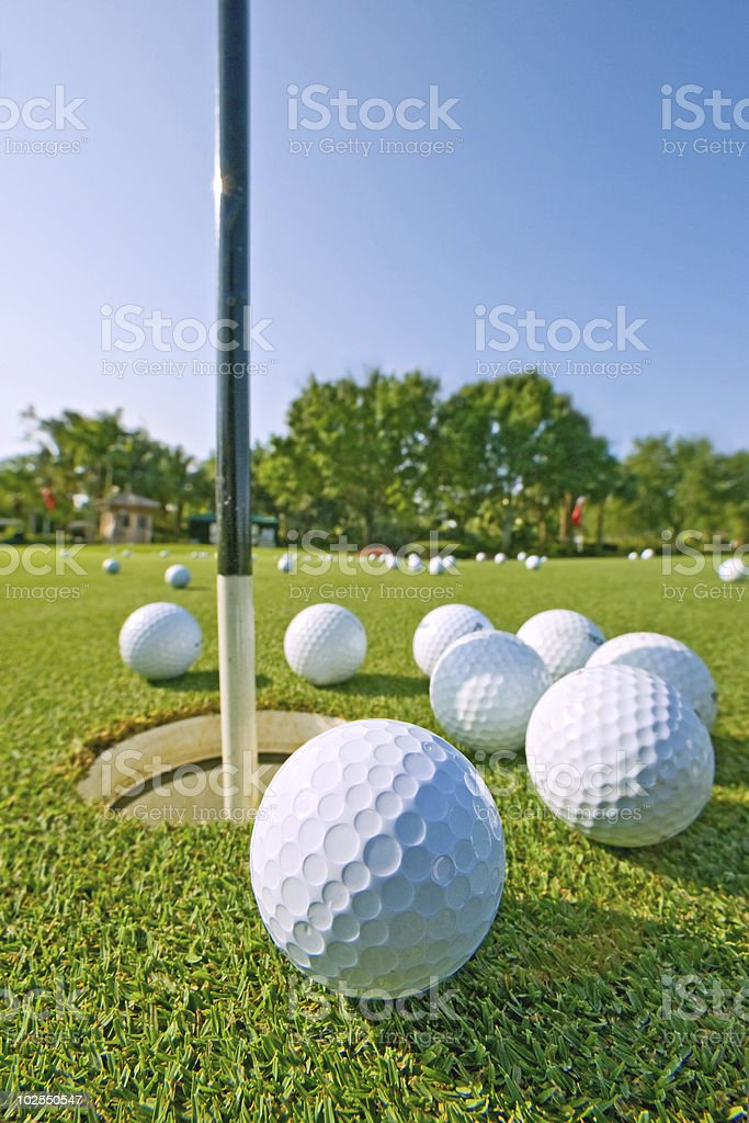 golf practice putting green royalty-free stock photo