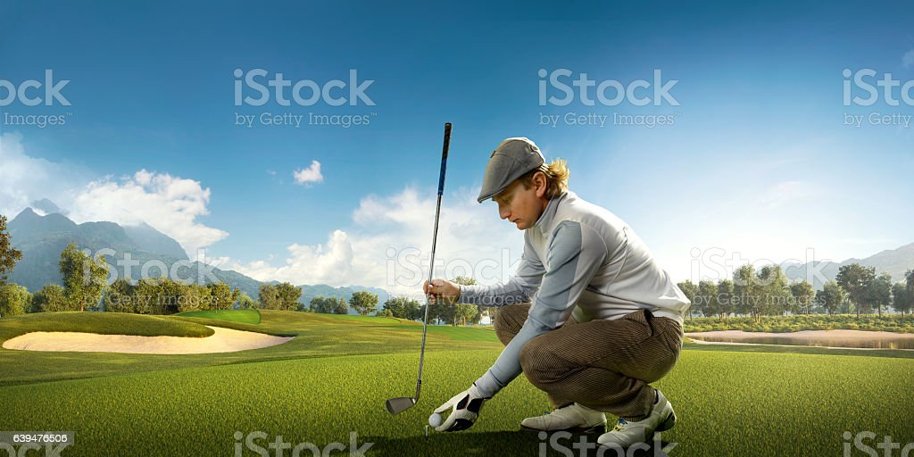 Golf: Preparing for strike stock photo