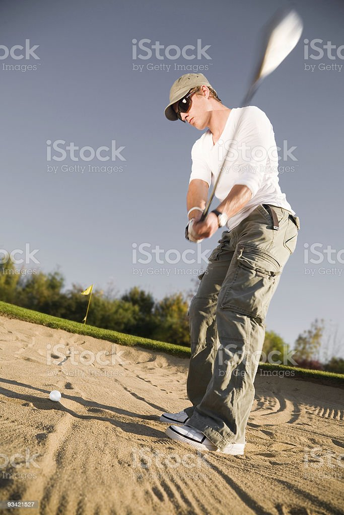 Golf Punk in the Bunker royalty-free stock photo