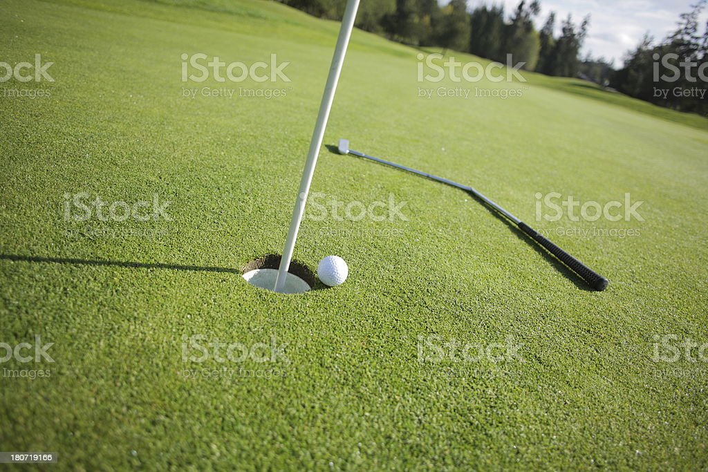 Golf putt gone bad royalty-free stock photo