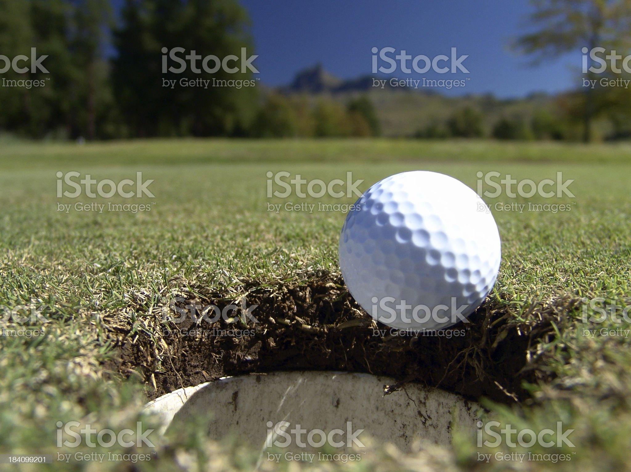 Golf Putt royalty-free stock photo