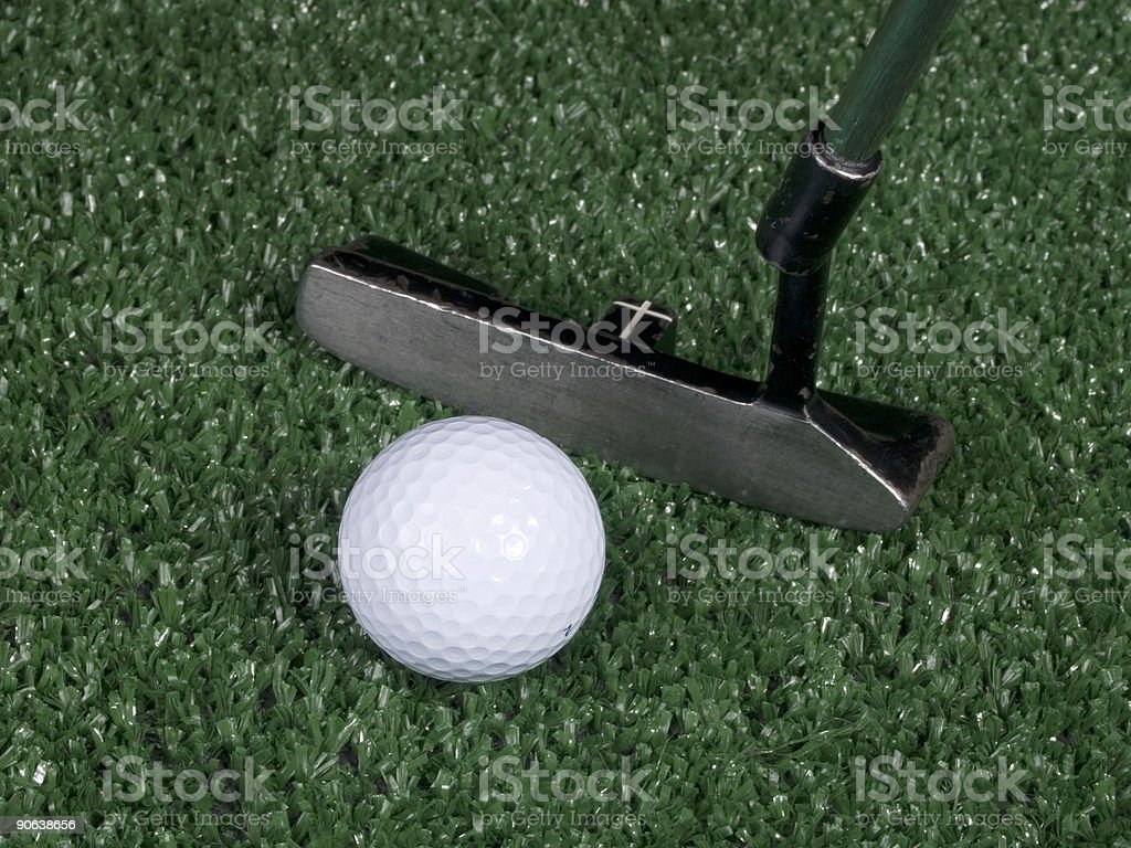 Golf Putt royalty-free stock photo