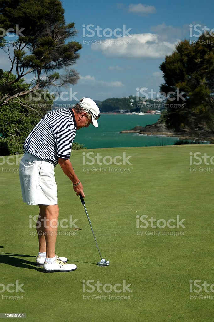 Golf - Putting stock photo