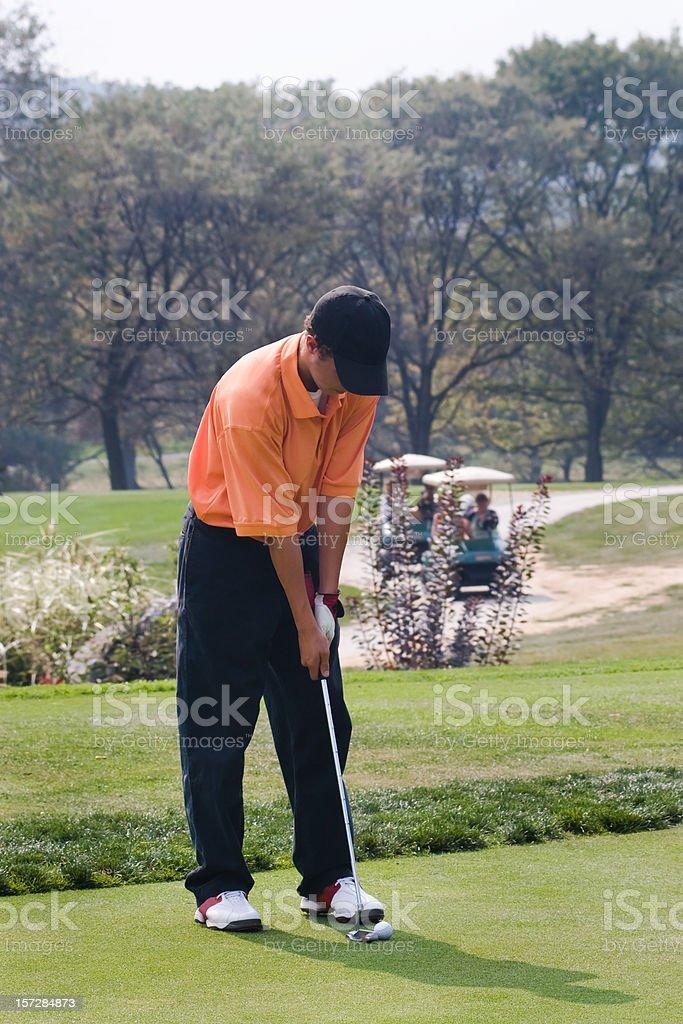 Golf - Putting royalty-free stock photo