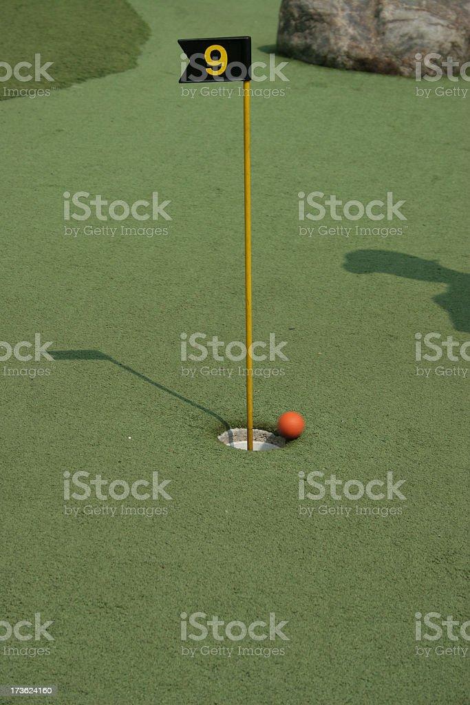 Golf Putting royalty-free stock photo