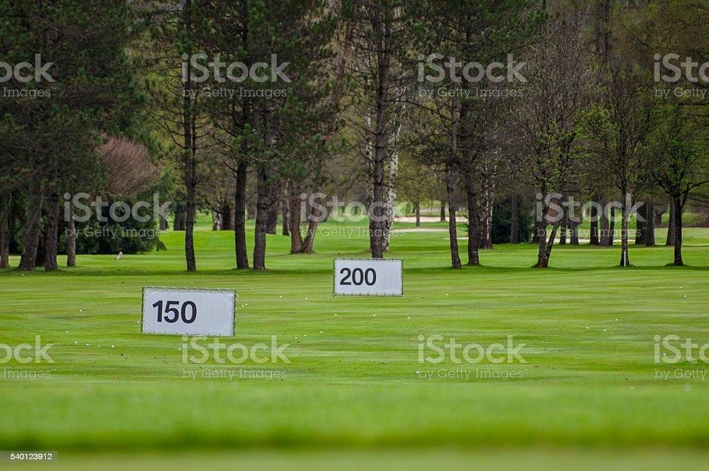 Golf range stock photo