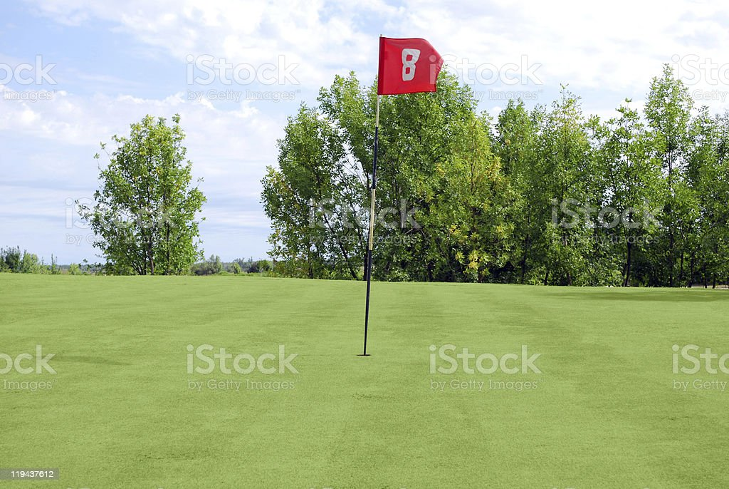 golf red flag royalty-free stock photo