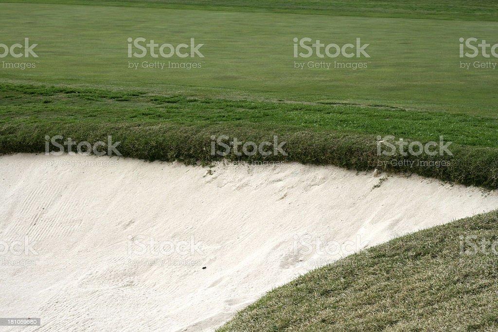 Golf sand trap royalty-free stock photo