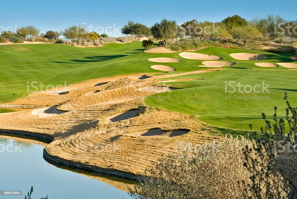 Golf Sand Traps Everywhere royalty-free stock photo