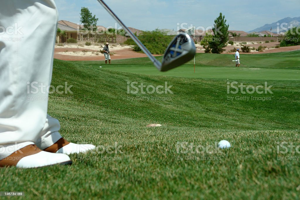 golf scene royalty-free stock photo