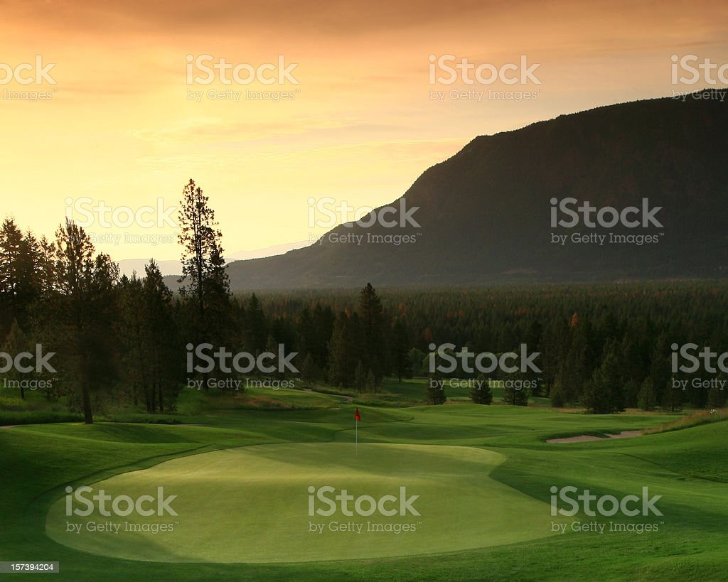 Golf Scenic stock photo
