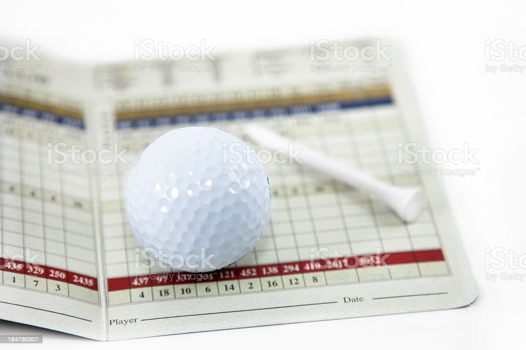 Golf Scorecard royalty-free stock photo