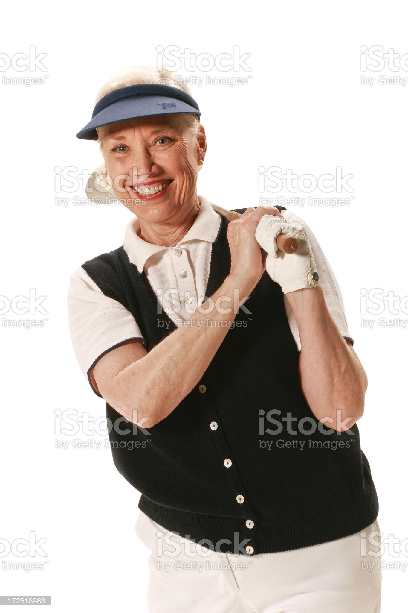 Golf senior portrait royalty-free stock photo