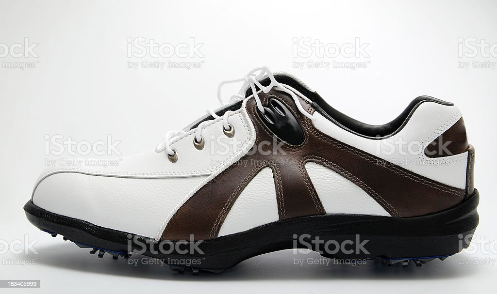Golf shoe stock photo