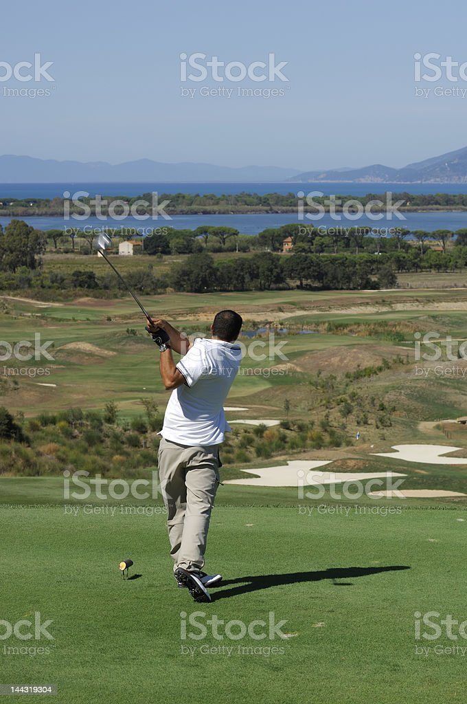 Golf Shot royalty-free stock photo