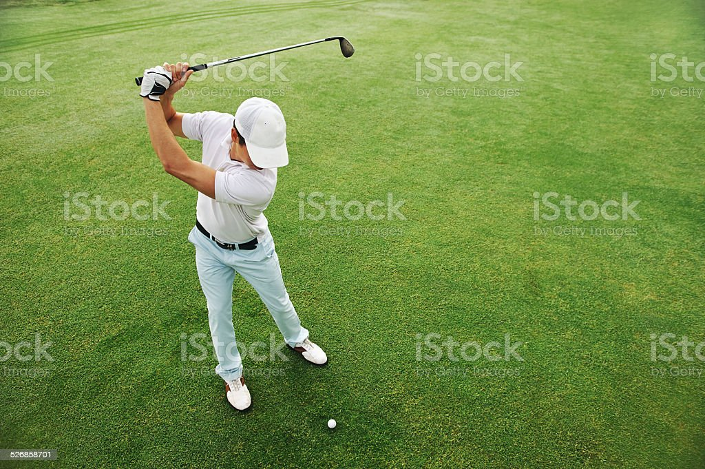 golf shot stock photo