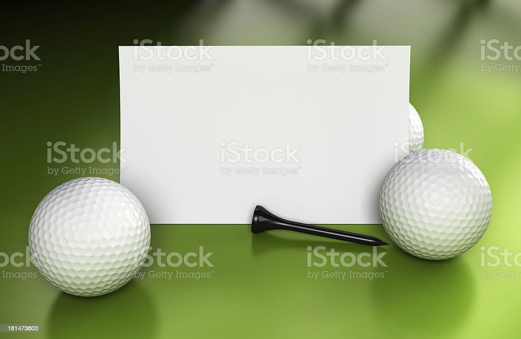 Golf Sign, Communication Over Green stock photo
