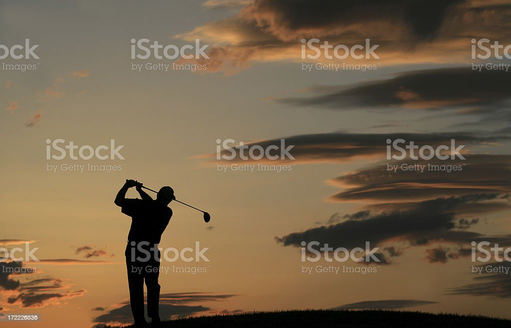 Golf Silhouette 3 royalty-free stock photo