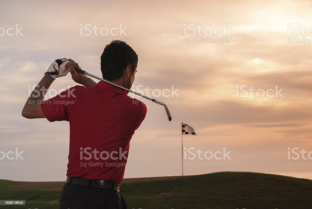 Golf Silhouette royalty-free stock photo