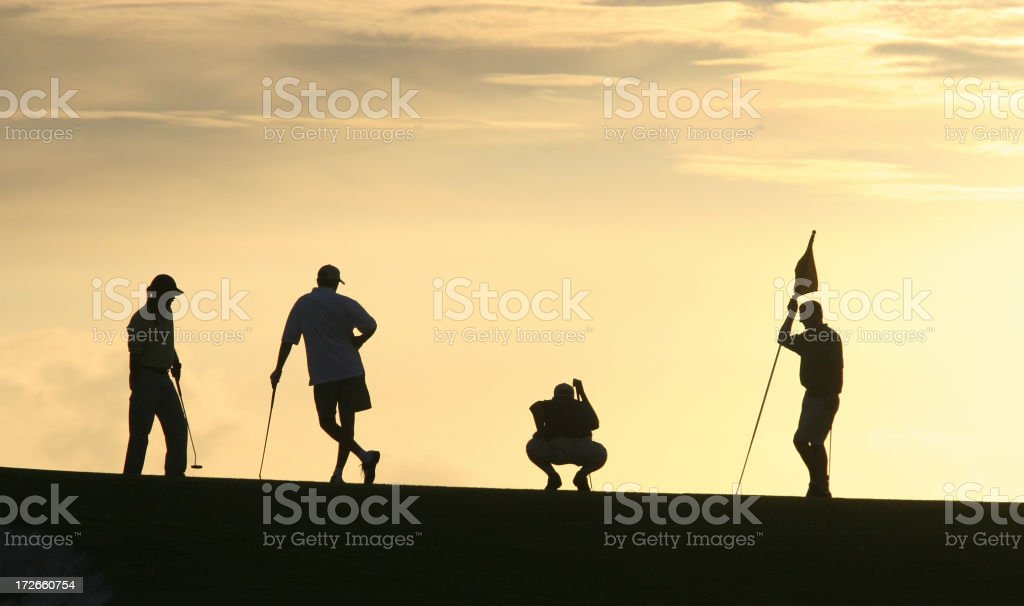 Golf Silhouettes 2 royalty-free stock photo