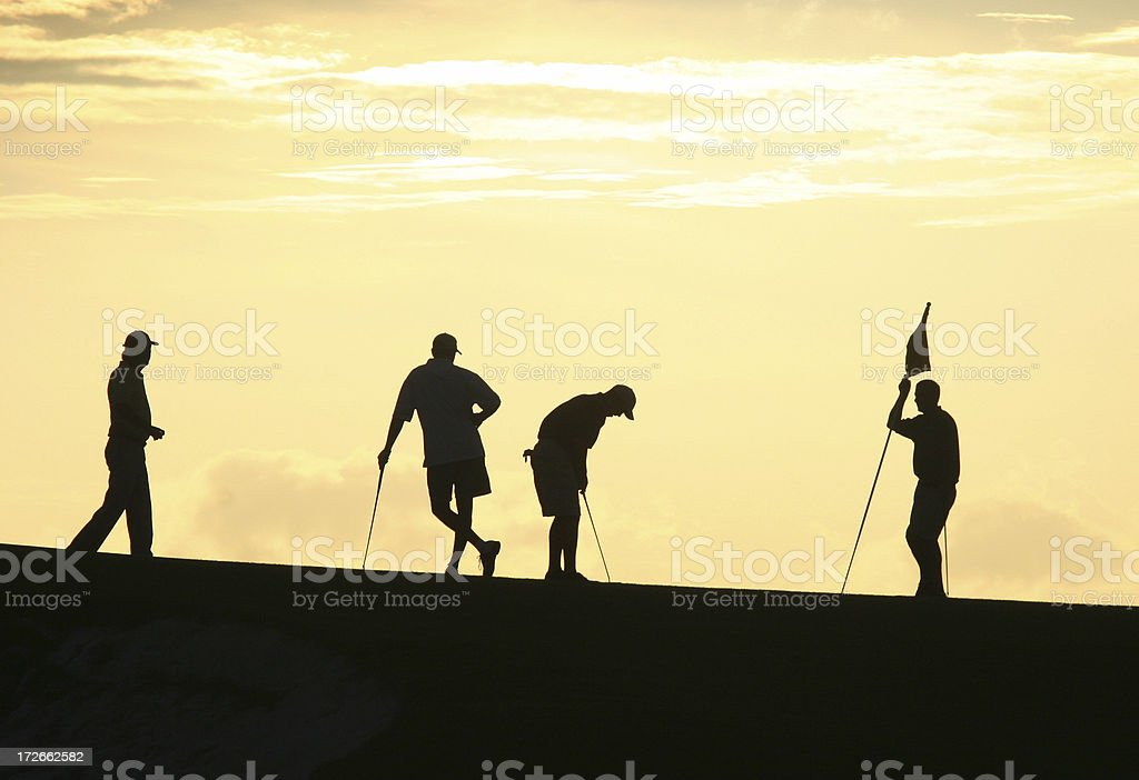 Golf Silhouettes royalty-free stock photo