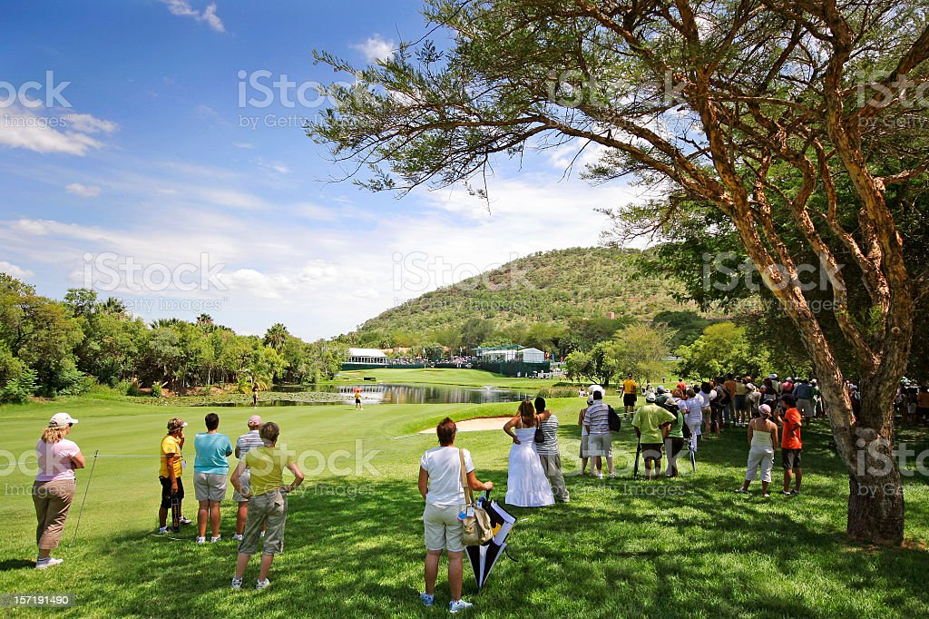 Golf Spectators Sun City royalty-free stock photo
