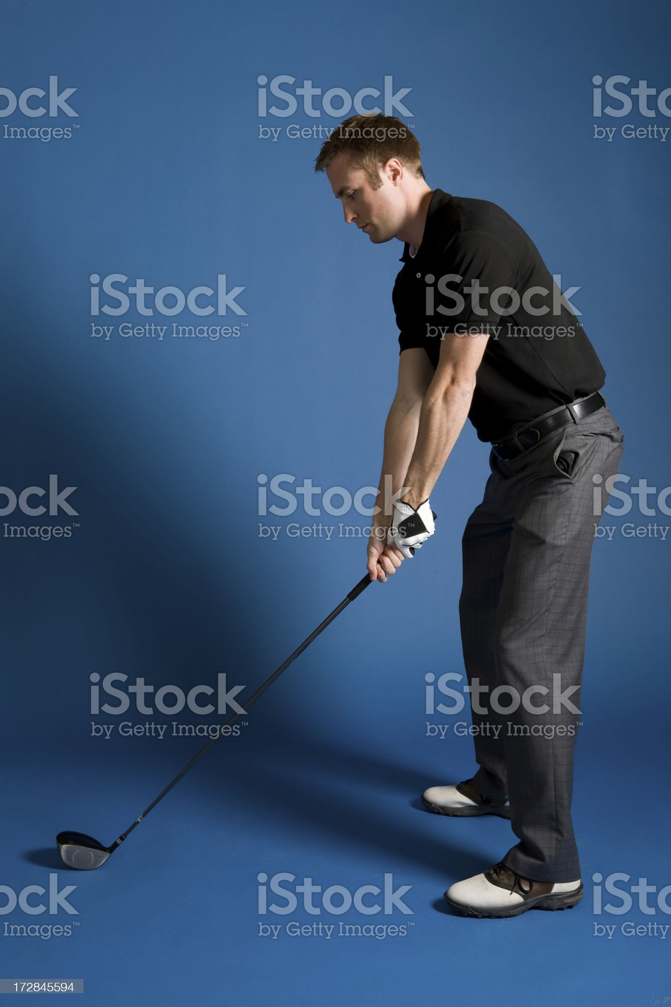 Golf Stance-Driver royalty-free stock photo