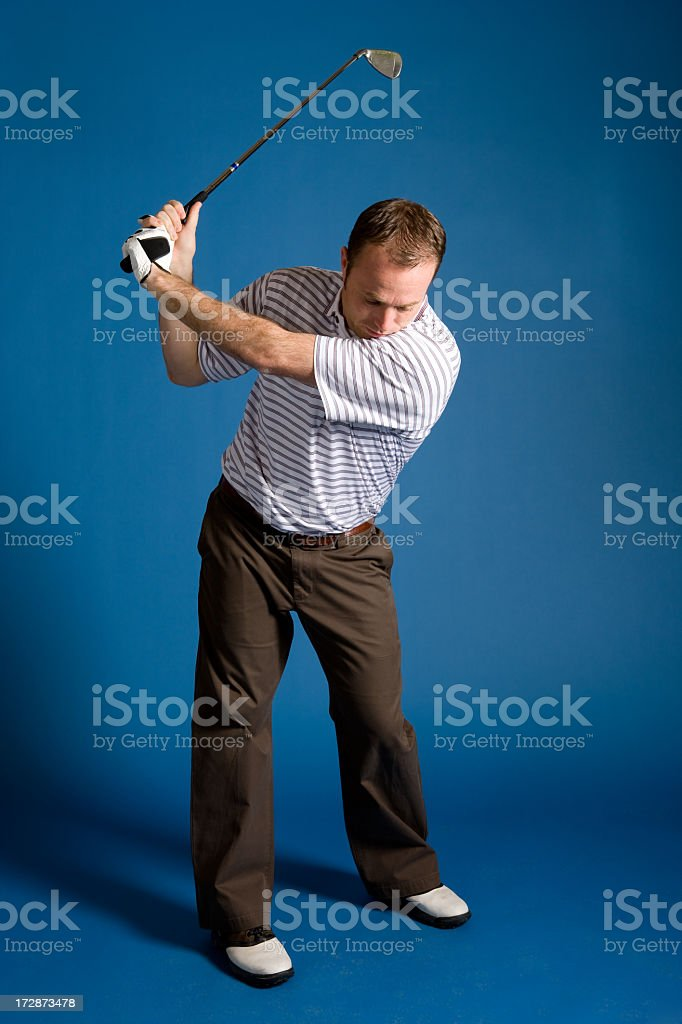 Golf Stance-Iron royalty-free stock photo