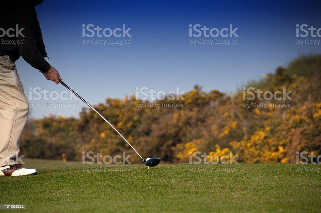 Golf start stock photo