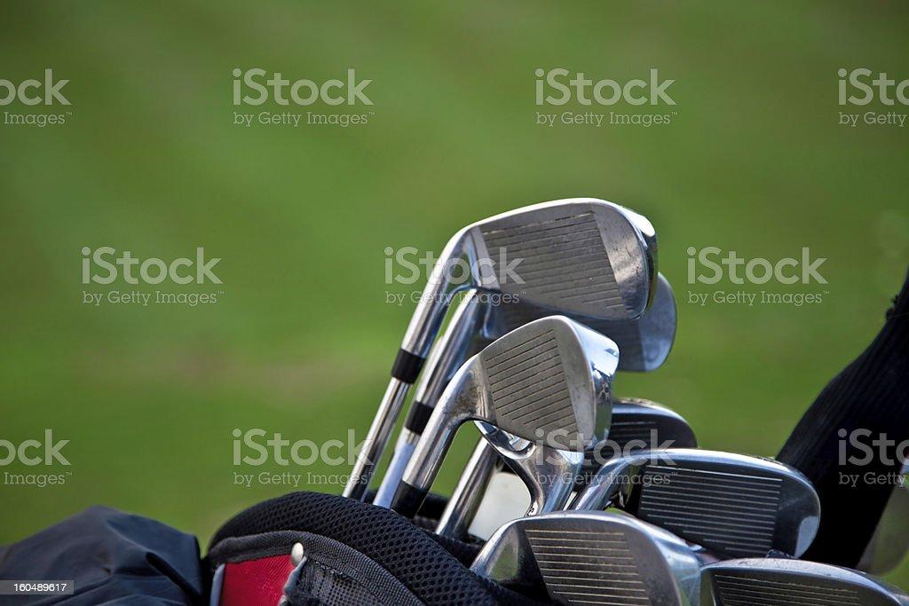 golf sticks royalty-free stock photo