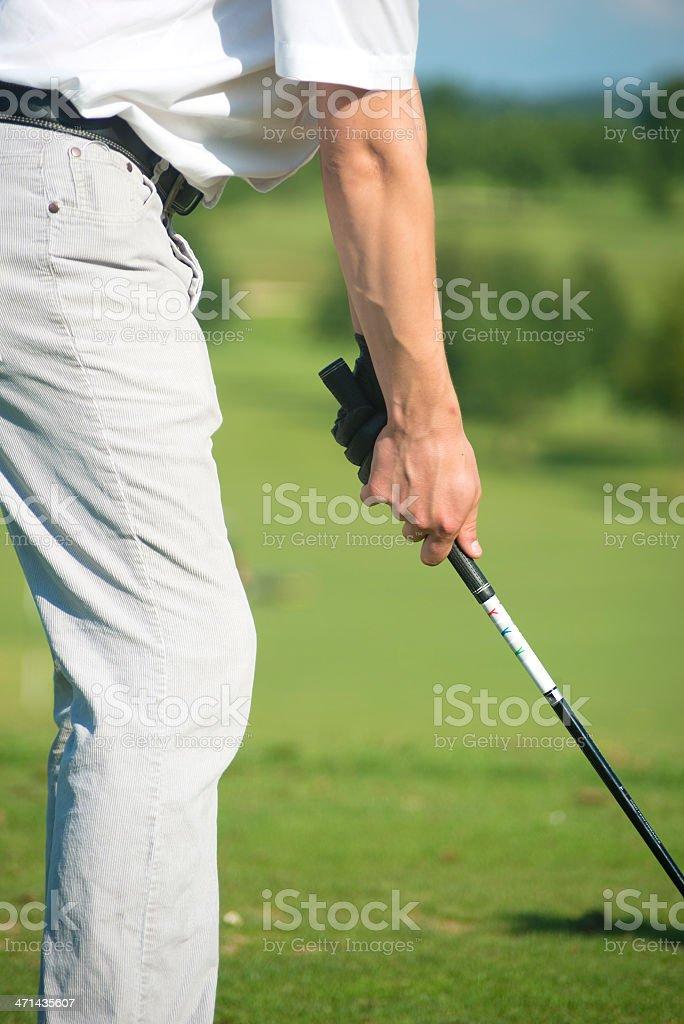 Golf Stroke vertical royalty-free stock photo