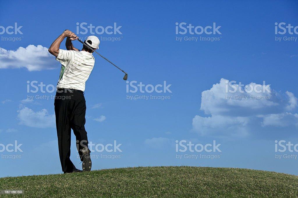 Golf Swing - Finish stock photo