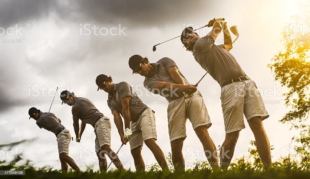 Golf Swing Image Sequence stock photo