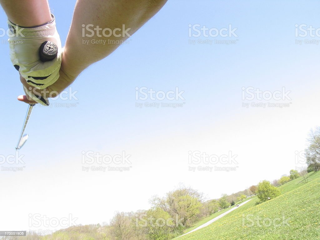 Golf - Swing out royalty-free stock photo