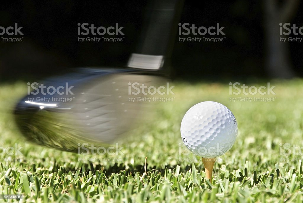 Golf swing royalty-free stock photo