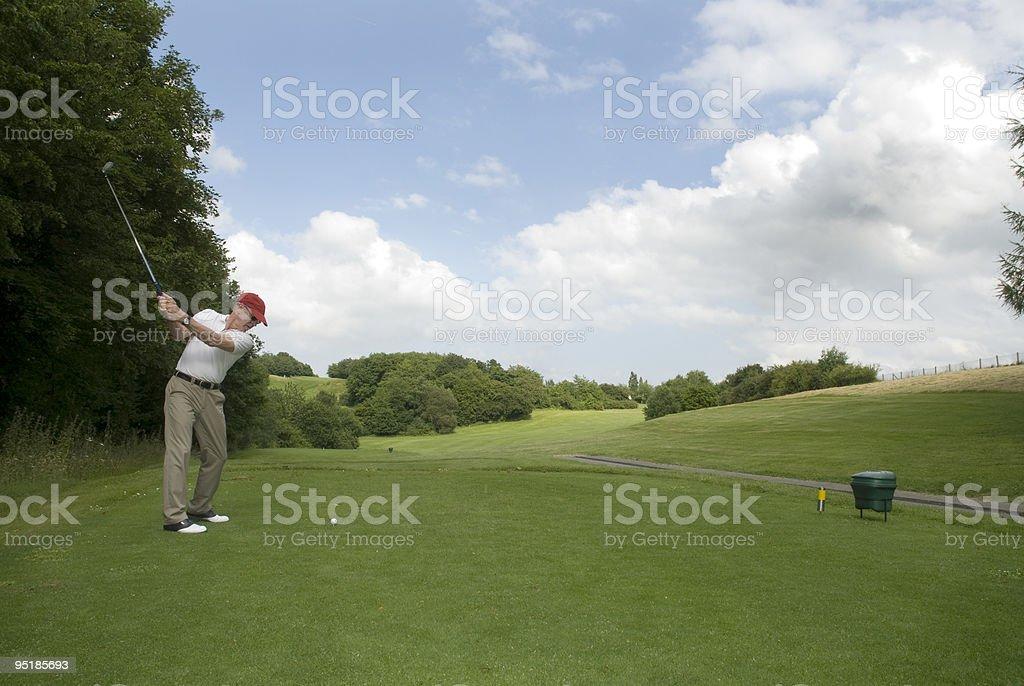 Oscillazione di golf foto stock royalty-free