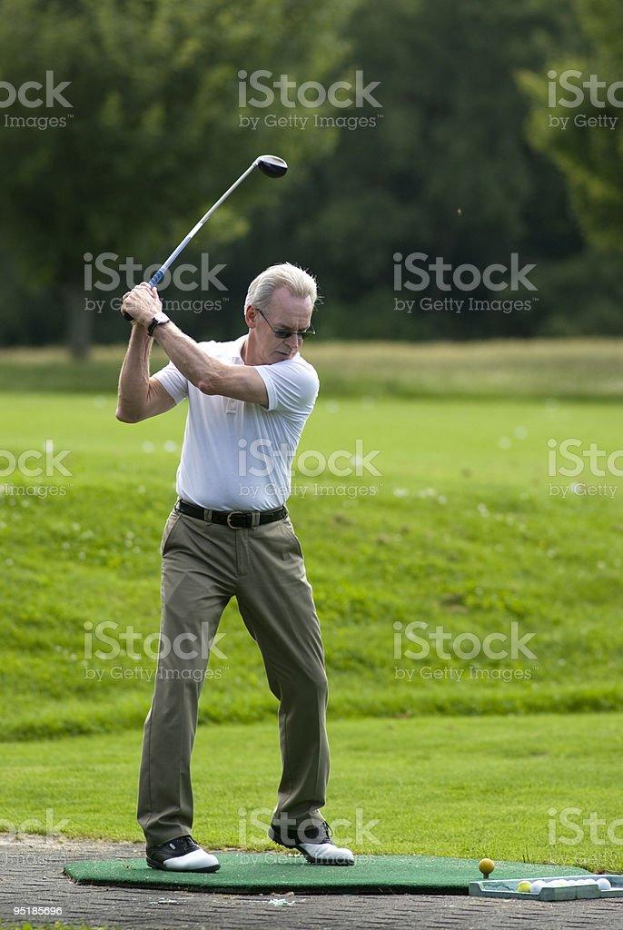 Oscillazione di Golf. foto stock royalty-free