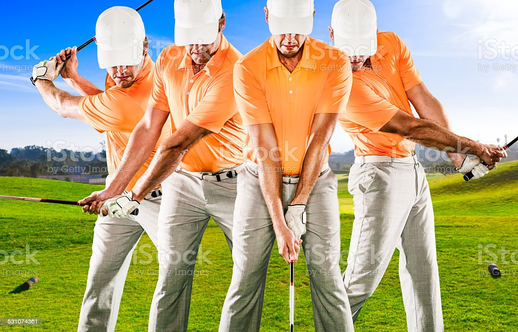 Golf Swing Sequence stock photo