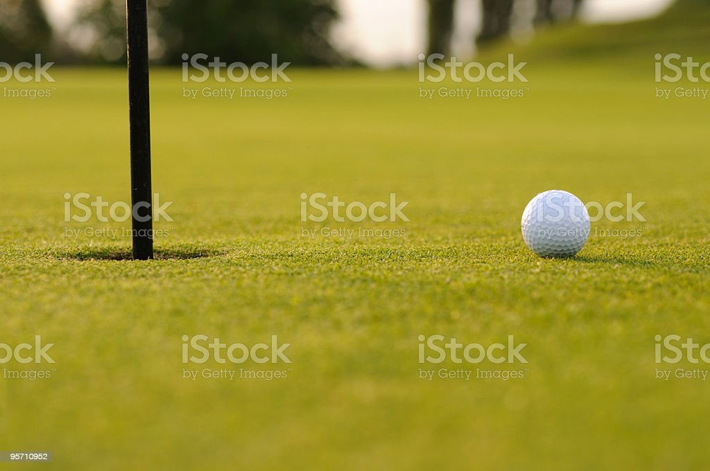 Golf Tap In royalty-free stock photo