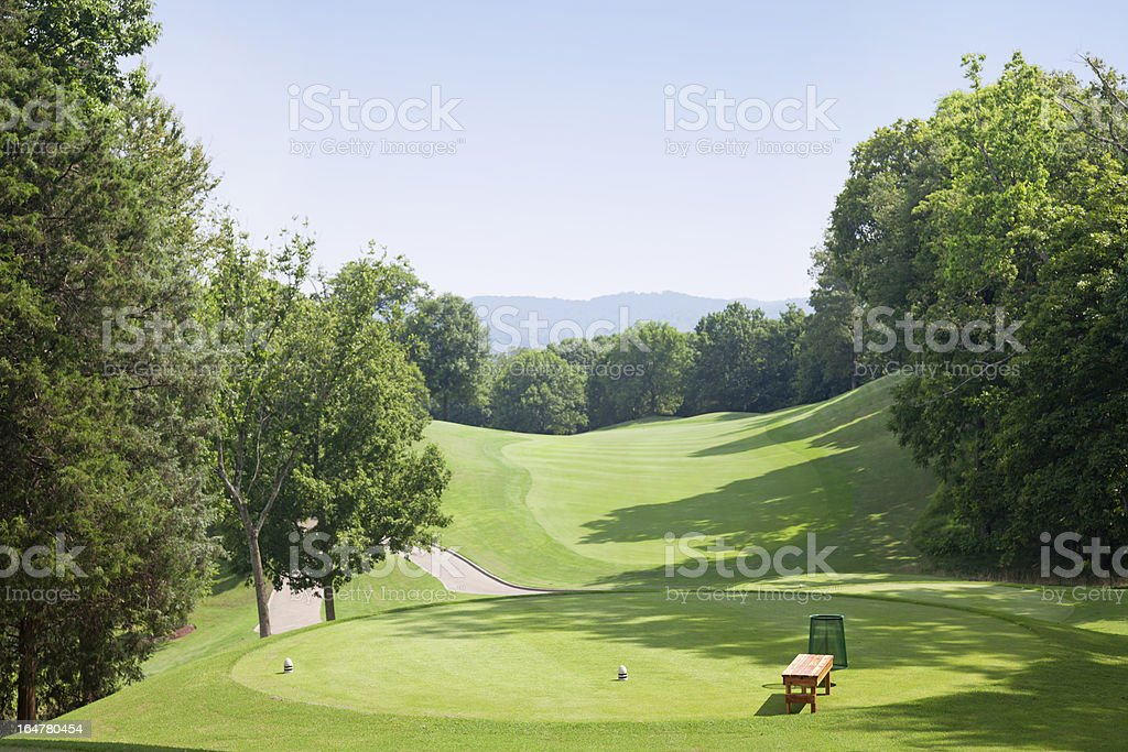 Golf Tee Box royalty-free stock photo