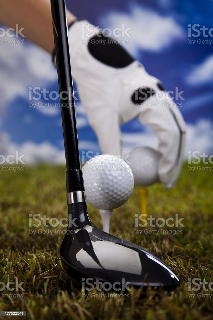 Golf tee royalty-free stock photo