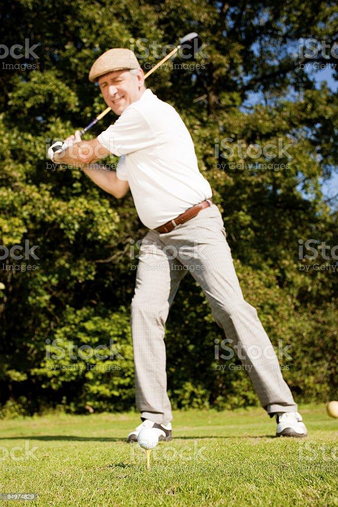 Golf teeing royalty-free stock photo