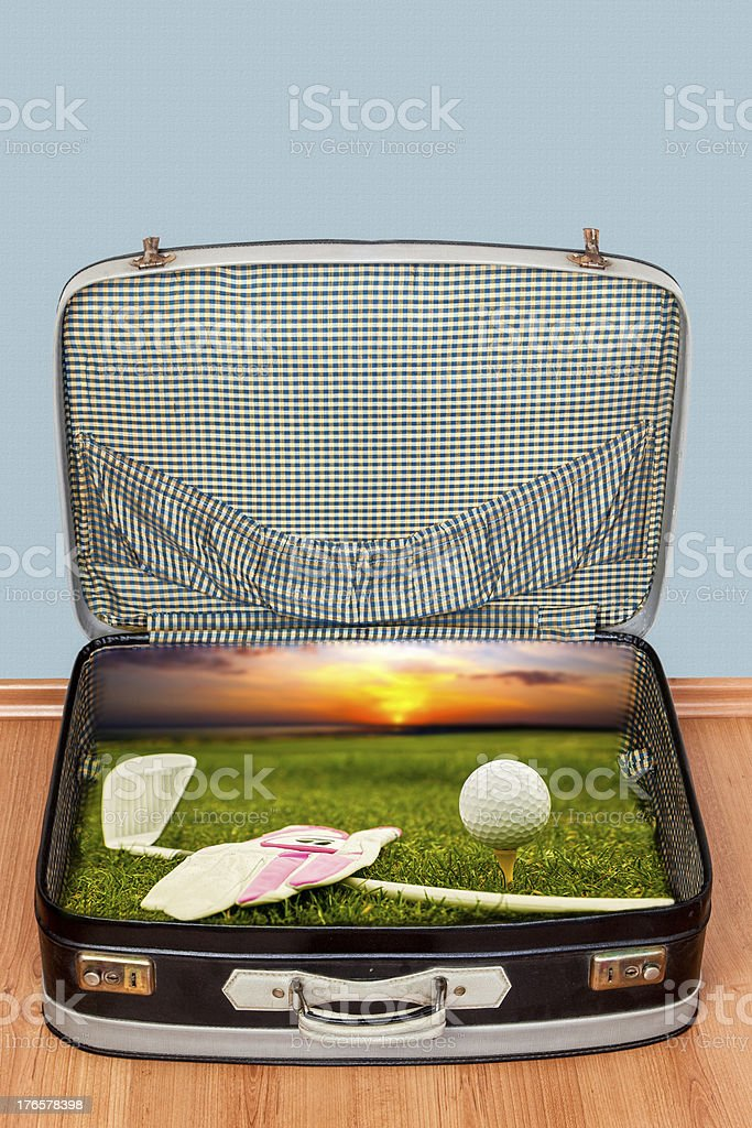 Golf Travel royalty-free stock photo