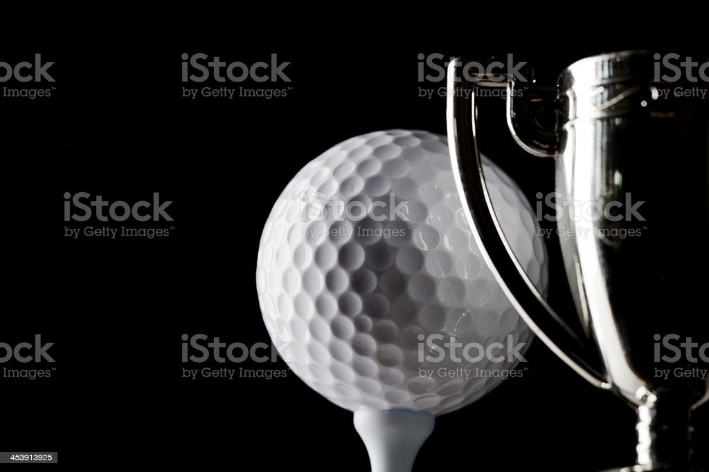 Golf trophy royalty-free stock photo